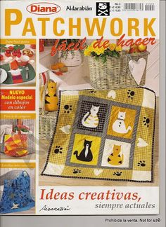 Diana Patchwork 3 - Joelma Patch - Álbumes web de Picasa Sewing Magazines, Cross Stitch Magazines, How To Make Purses, Patch Aplique, Needlepoint Stitches, Book Quilt, Small Quilts, Pattern Books, Book Crafts