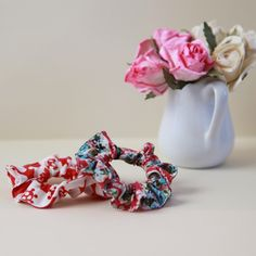 How to make scrunchies!                                               This is a must have tutorial for us ponytail girls and it's easy and pretty gift too.
