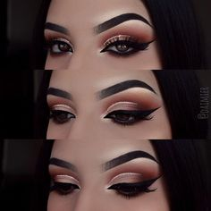"""I'm so happy with how this look turned out! doesn't glitter make everything better? I just can't resist doing a glitter wing or glitter cut crease! I also switched up my liner. I'm now using @morphebrushes gel liner in the shade """"slate"""" it's so amazing and easy to work with. I was terrified to do wings with my looks because I didn't want to ruin everything, but switching from liquid to gel has changed the game for me personally. I definitely recommend if you're on the market for a new li..."""