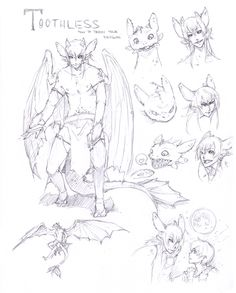 :Toothless: Character Sheet by Chuuchichu.deviantart.com on @DeviantArt