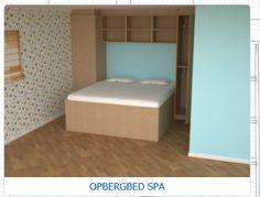 Een heerlijk bed gekocht in onze kleine slaapkamer, onder het bed zit heel veel, makkelijk toegankelijke bergruimte. De leverancier bezorgt in heel Nederland en Belgie aan huis. www.kleinwonen.nl