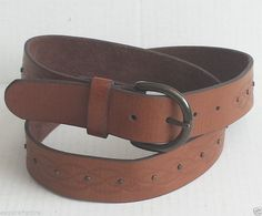 #fashion leather Brown belt Size 40 withing our EBAY store at  http://stores.ebay.com/esquirestore