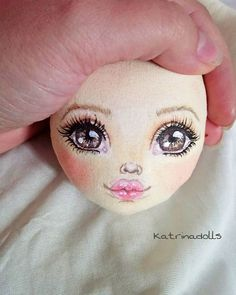 Doll Toys, Baby Dolls, Doll Face Paint, Fabric Toys, Sewing Dolls, Doll Tutorial, Face Hair, Tole Painting, Diy Doll
