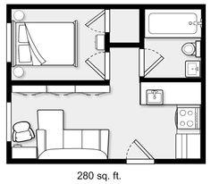 apartment floor plans 45 New Ideas For Apartment Floor Plan Micro 45 New Ideas For Apartment Floor Plan Micro Studio Apartment Floor Plans, Studio Floor Plans, Studio Apartment Layout, Small House Floor Plans, Small Apartment Design, Small House Design, Small Apartment Plans, Condo Design, The Plan