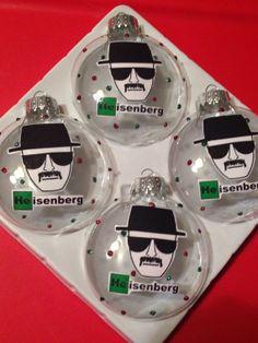 Breaking Bad Heisenberg Christmas Ornaments by CreativeGitana, $18.50