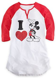 Mickey Mouse Nightshirt for Women. Shop THE DISNEY STORE Scarborough Town Centre. #Mickey