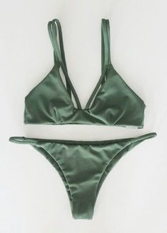 2017 New Sexy Halter Top Bikinis Women Swimwear Push Up Retro Female Swimsuit Bikini Set Beachwear Bathing Suits Biquini The Bikini, Sexy Bikini, Scrunch Bikini, Strap Bikini, Bikini Swimsuit, Women Bikini, Green Swimsuit, Bikini 2017, Bikini Set