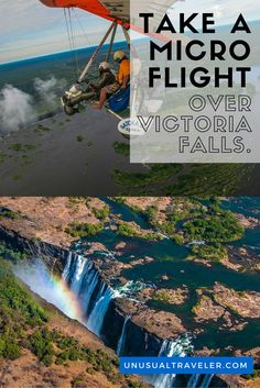 Take a Mirco Flight over Victoria Falls in Zambia and get a breathtaking view