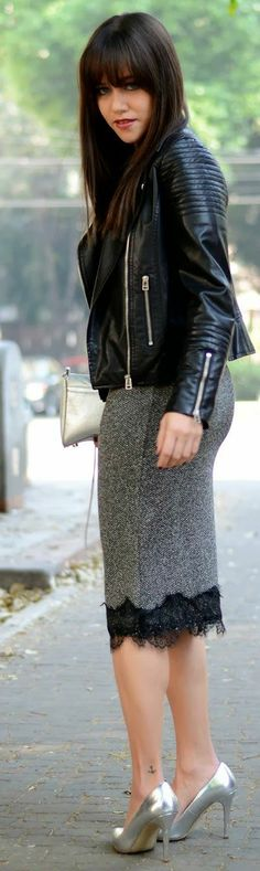 Lace Pencil Skirt. by Moda capital