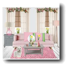 Yellow Daffodils Decor by sgolis on Polyvore featuring interior, interiors, interior design, home, home decor, interior decorating, #zazzle #pinkpillow #springdecor
