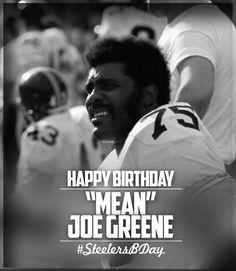 Men's Pittsburgh Steelers Joe Greene Majestic Black Hall of Fame Eligible Receiver II Name & Number T-Shirt