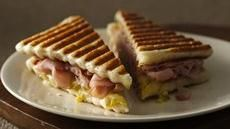Cuban-Style Panini - don't have a panini maker -- this is an easy way to use Pillsbury dough and your grill.  Easy!