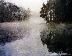Ethereal Lake Impression by Rolffimages,