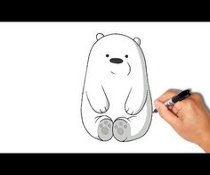 How to draw and paint Ice Bear in 1 minute