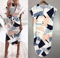 Women Summer Boho Short Maxi Dress Evening Cocktail Party Beach Dresses Sundress S White for sale online Casual Dress Outfits, Casual Summer Dresses, Beach Dresses, Simple Dresses, Casual Dresses For Women, Fashion Outfits, Dress Beach, Maxi Dresses, Fashion Clothes