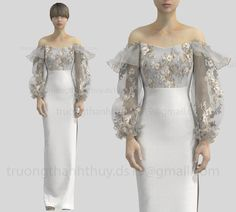 CLO3D / MARVELOUS DESIGN BRIDAL /EVENT DRESS