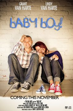 Baby announcement movie poster.