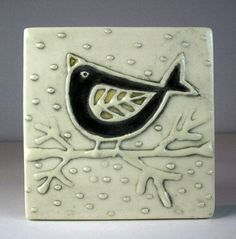 Black bird tile