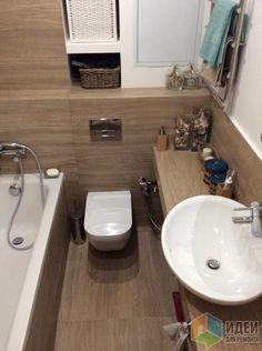 подвесной унитаз, раковина для ванной на столешнице