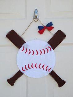 Baseball Door Hanger- Custom