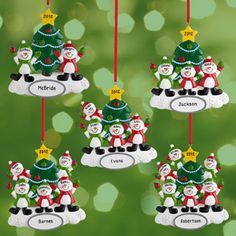 Personalized Snowman Ornament, Personalize up to 6 Names, Walmart.com
