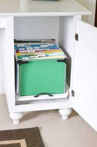 diy file cabinet, cleaning tips, diy, how to, kitchen cabinets, painted furniture, storage ideas, Here is what the file folders look like inside the cabinet