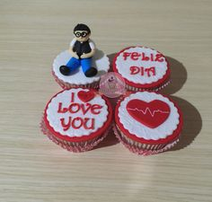 Cupcake de amor. Cupcakes con mensaje