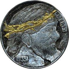 James Olivencia-King of all Hobos Hobo Nickel, Coins, Carving, Buffalo, Profile, Train, Art, User Profile, Art Background