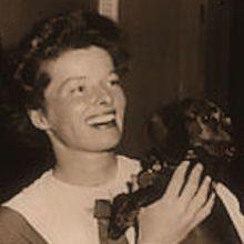 Katharine Hepburn and Dachshund by cbording, via Flickr