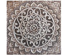 Decorative Wall Tile 6 Moroccan Suzani Or Mandala Wall Hangings Made From Ceramic