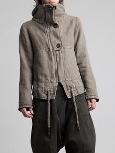 THICK RUSTIC COTTON JACKET WITH FLELE LINING