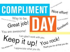 Today is @WorldComplimentDay. We all need a bit of #kindness and #positivity :)