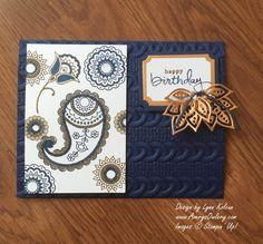 handmade birthday card: Stampin Up Paisleys & Posies from AverysOwlery.com…