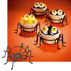 Amazon.com: ADORABLE WIRE METAL SPIDER CUPCAKE HOLDERS - SET OF 4: Kitchen & Dining