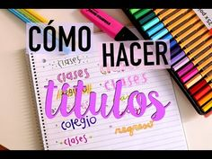 CÓMO HACER TÍTULOS (DECORA TU CUADERNO) + SORTEO STABILO | Valeria Basurco - YouTube