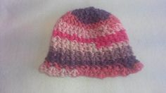 Pink and Purple Crochet Baby Hat  3-6 Months by TheCrochetAnything