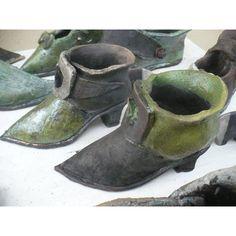 Baroque Style Raku Ceramic Shoe Shape Flower Pot