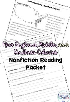 Thirteen colonies | Introduce your students to the characteristics of the New England, Middle and Southern colonies with this nonfiction resource. It also covers triangular trade, family life, role of women and social classes.