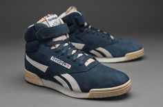 2115c3f5581 Reebok Exofit Hi Clean Fitness - Mens Select Footwear - Athletic Navy- Paperwhite-Reebok