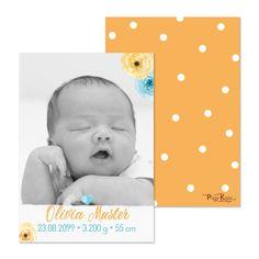 Geburtsanzeigen Geburtskarte Aquarell-Blüten drucken