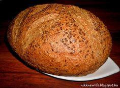 Teljes kiőrlésű kenyér - lenmagliszttel