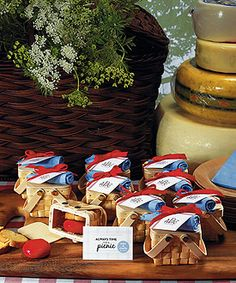 Nice favors for an outdoor or Western wedding