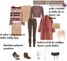 Ako vytvoriť kombinovateľnú skupinu oblečenia s výrazným kúskom - Supervizáž Soft Autumn, Capsule Wardrobe, Polyvore, Image, Fashion, Moda, Fashion Styles, Fashion Illustrations