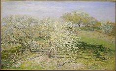 Claude Monet, (French, 1840–1926). Spring (Fruit Trees in Bloom), 1873. The Metropolitan Museum of Art, New York. Bequest of Mary Livingston Willard, 1926 (26.186.1) #spring