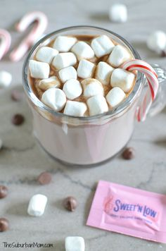 Homemade Peppermint Hot Chocolate made with Sweet'N Low®