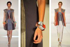 INDUSTRIAL: Fashion Design and Jewelry Design Collaboration between Julia Hsiang-Ling Chang, BFA Fashion Design, and Mariah Groves, BFA Industrial Design. Mariah was selected for a Walter Van Beirendonck internship.  SAN FRANCISCO, May 22, 2010 / FW/