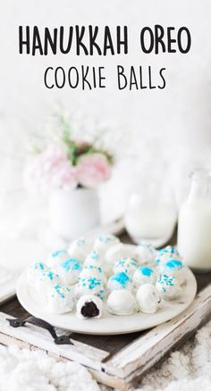 It's no secret that you're known for your delicious desserts. What is a secret though, is that these Hanukkah OREO Cookie Balls don't require any baking! Great for adding a festive touch to your party (Christmas Bake Day) Feliz Hanukkah, Hanukkah Food, Hanukkah Recipes, Hanukkah Crafts, Hanukkah Decorations, Happy Hanukkah, Jewish Recipes, Gourmet Recipes, Picnic Recipes