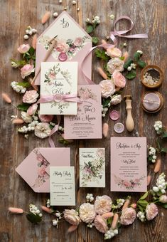 Geometric Wedding Invitations Boho Invites Moody Pink Ribbon with Monogram Wax Seal with Blush Envelope with Liner Anemone Wedding, Dusty Rose Wedding, Wedding Bouquets, Personalised Wedding Invitations, Beach Wedding Invitations, Wedding Stationery, Wedding Favors, Wedding Cards, Wedding Themes