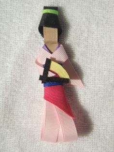 Disney Princess Mulan Ribbon Sculpture Hair Clip
