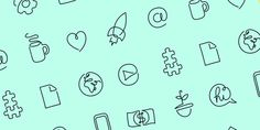 One line – startup icons made in one line